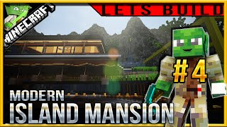 Minecraft 1.9 Modern Island Mansion Let's build (Jedi Mansion 3) E04 (balcony and trees!)