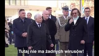 Kaczyński karze swojemu poddanemu zdjąć maseczkę.