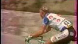 Saint-Lary-Soulan France  City pictures : Tour de France 1993 : Zenon Jaskula à Saint Lary Soulan