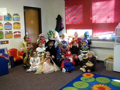 skeletal renewal - Lily's class singing during their Halloween Party.