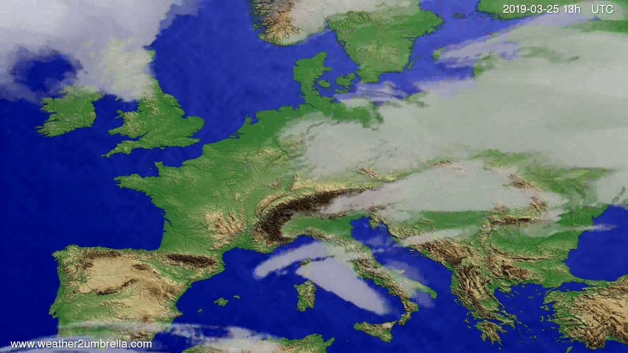 Cloud forecast Europe 2019-03-25