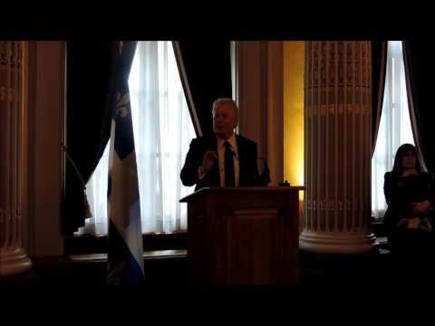 Extraits - Allocution prononcée par M. Jean Charest, premier premier ministre du Québec à avoir nommé un cabinet paritaire - Événement En marche pour la parité, 11 avril 2016, Assemblée nationale du Québec