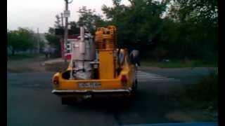 Автомобиль Волга с газогенератором