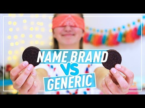 NAME BRAND vs GENERIC Taste Test - Kamri Noel ft. Brooklyn McKnight
