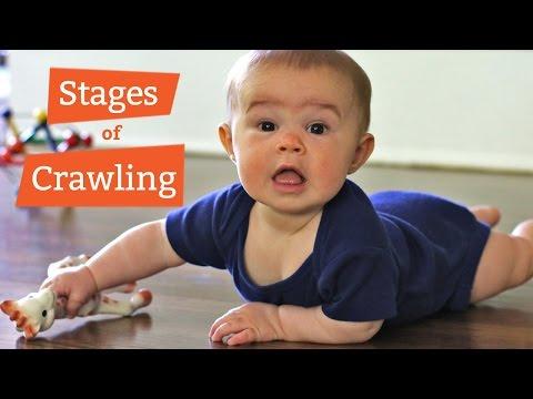 Baby Crawling Development ★ Novice to Pro in 2 Min ★ Cute