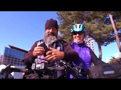 Swiss couple cycle 10,000 miles to see son compete in Winter Olympics