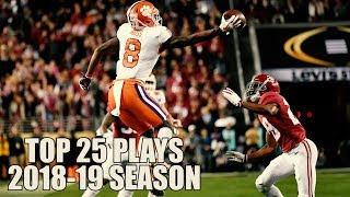 College Football Top 25 Plays 2018-19 Season ᴴᴰ