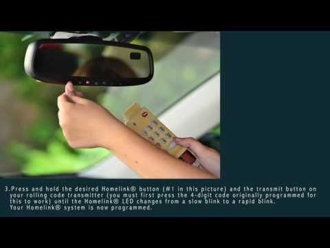 Short Homelink System Tutorial - How To Sync Your Garage Door Opener with Rolling Code