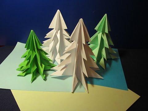 Ёлочка из бумаги своими руками оригами просто