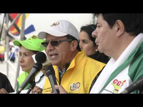 Discurso del presidente de la CUT, Luis Alejandro Pedraza en el 1 de Mayo