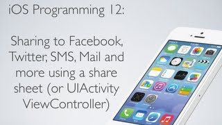 IOS Programming 12: Share To Facebook, Twitter, Mail And More With UIActivityView (Share Sheet)