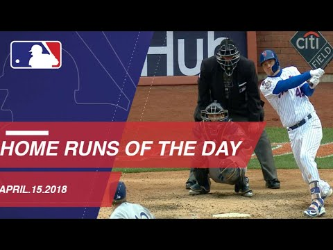 Watch all of the home runs from April 15, 2018