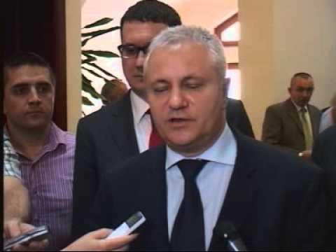 Dinkić sa rukovodstvom grada Čačka.