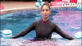 Watch Yami Gautam Do Aqua Aerobics