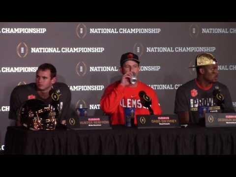 Download TigerNet.com - Dabo Swinney postgame press conference after winning National Championship HD Mp4 3GP Video and MP3