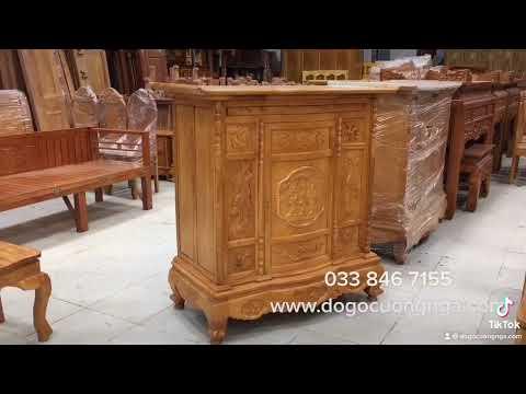 Chi tiết mẫu tủ thờ gỗ gõ đỏ | Đồ Gỗ Cường Nga