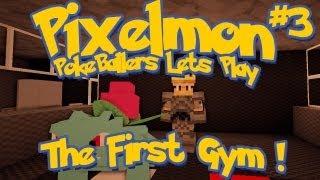 Pixelmon Server Minecraft Pokemon Mod Pokeballers Lets Play! Ep 5 - First Gym Leader