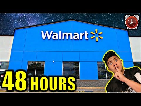 48 HOUR OVERNIGHT CHALLENGE IN WALMART!!! (PART 1)