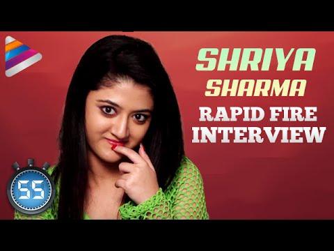 Shriya Sharma says NO To Love  Scenes | Rapid Fire Interview | Nirmala Convent Movie
