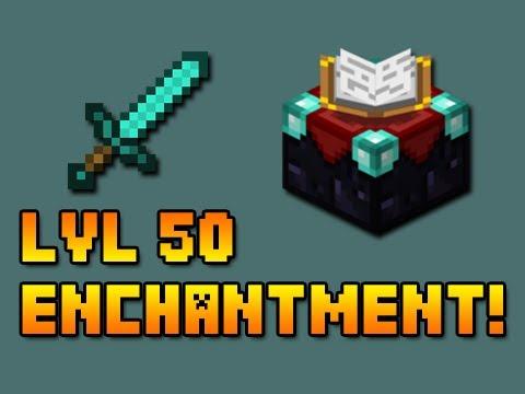 Minecraft: Level 50 Enchanted Sword!