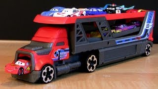 Video Hot Wheels Rapid-Fire Launcher Blastin' Rig Semi-Truck Using Disney Pixar Cars 2 Toys Hauler MP3, 3GP, MP4, WEBM, AVI, FLV Juli 2018