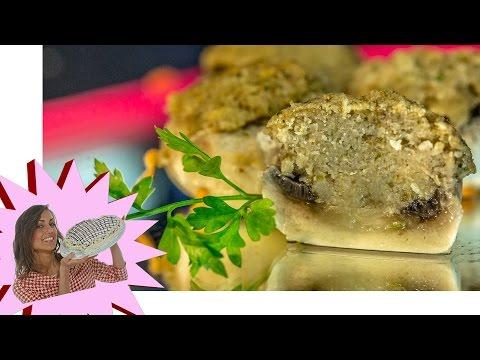 ricetta - funghi ripieni al forno!