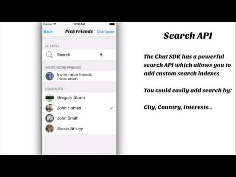 Chat - Messaging SDK for iOS video