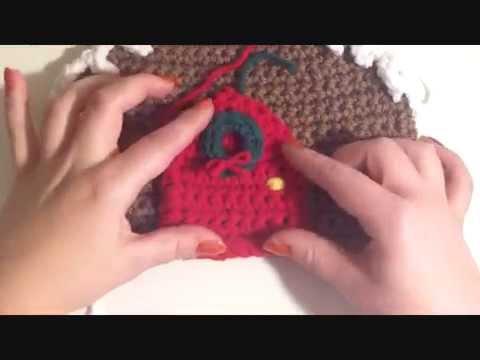 DIY Crochet Gingerbread House (Decorating)