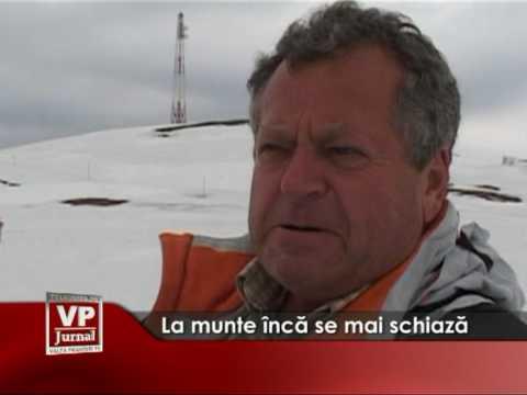 La munte încă se mai schiază