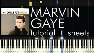 Marvin Gaye - Piano Tutorial - How to Play - Charlie Puth - Sheets