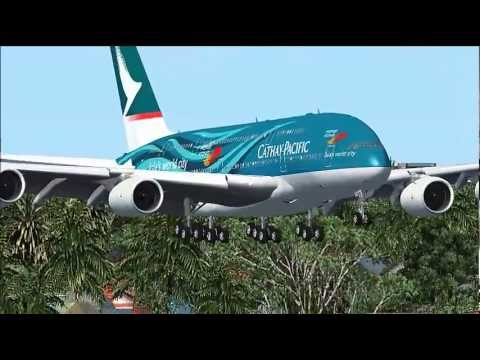 CATHAY PACIFIC Airbus A380 (Aircraft Model) [FSX] The World's Biggest Passenger Aircraft.