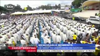 Memorable moments of Pope Francis' three days visit in Kenya
