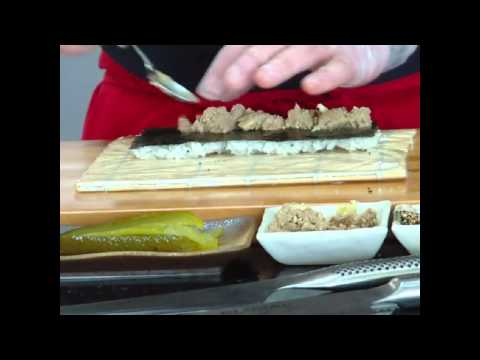 Chopped Liver & Pickle Sushi Roll