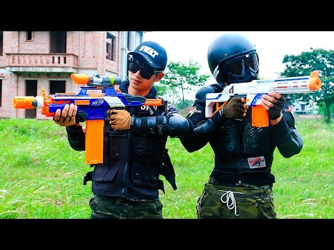 Video Nerf War Movies S.W.A.T Girl hostage rescue Nerf Guns Hero man sniper Infantry Superhero guns download in MP3, 3GP, MP4, WEBM, AVI, FLV January 2017