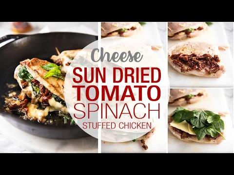 Sun Dried Tomato Spinach Stuffed Chicken