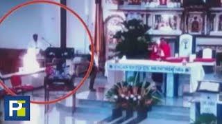 Imagen captada por cámaras de seguridad en una iglesia de Colombia tiene enfrentados a los creyentes