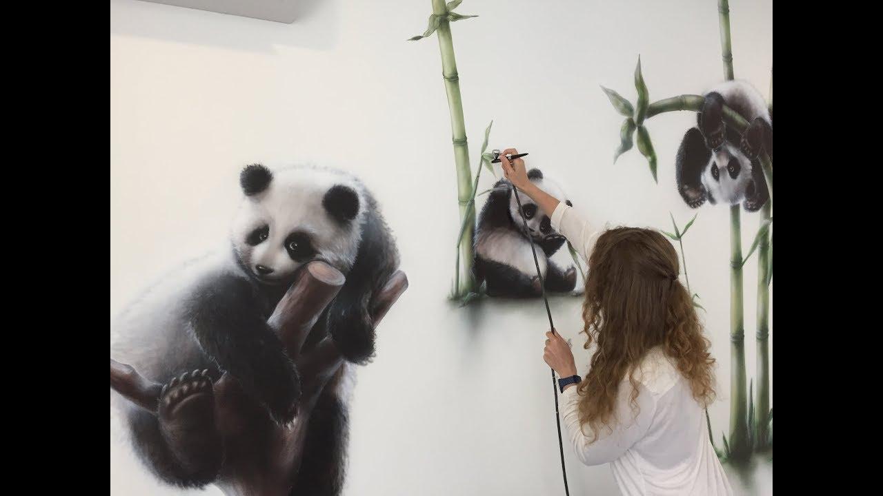 Роспись детской Волшебные панды