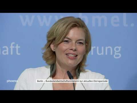 Landwirtschaftsministerin Klöckner zur anhaltenden Dürre am 01.08.18