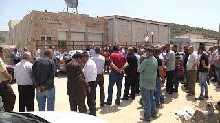 بلدة عنبتا تنظم وقفة احتجاجاً على وحدة المعالجة في مصنع عزيزة