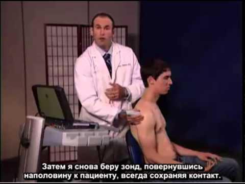 Порядок выполнения: ультразвуковые исследования сухожилия подостной мышцы и плечевого сустава