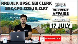 Video CURRENT AFFAIRS: The HINDU, Daily CURRENT AFFAIRS |17th July 2018 | SBI, IBPS, SSC, RBI MP3, 3GP, MP4, WEBM, AVI, FLV Juli 2018