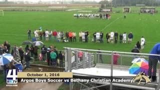 Argos Boys Soccer vs. Bethany Christian