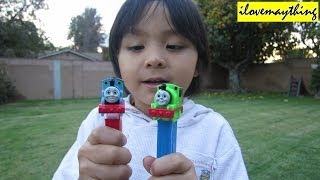 Kids' Toy Channel: Thomas and Friends PEZ Candy and Dispenser! Thomas and Percy