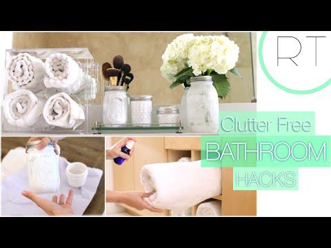 Clutter Free Bathroom Hacks + DIY