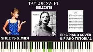 Taylor Swift - Delicate (Piano Cover & Tutorial) | Sachin Sen