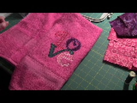 How to Machine Embroider on a Towel Video