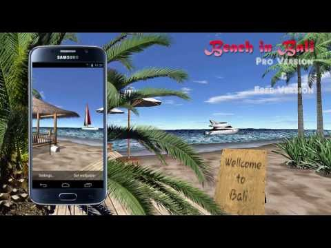 Video of Beach In Bali 3D FREE LWP