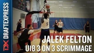 Jalek Felton USA U18 3 on 3 Scrimmage in Colorado Springs - DraftExpress