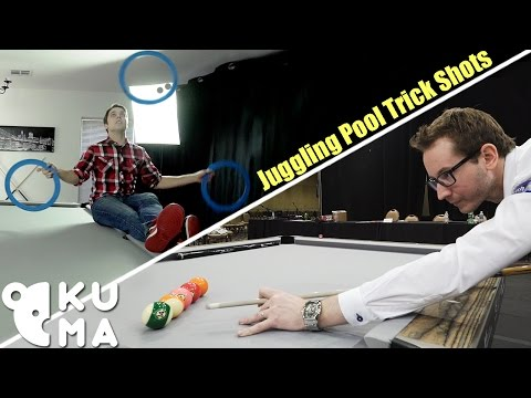 Juggler and Pool Player Perform Incredible Trick Shots