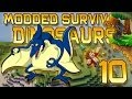 Minecraft: Modded Dinosaur Survival Let's Play w/Mitch! Ep. 10 - HOW TO MAKE A BIRD CAGE!
